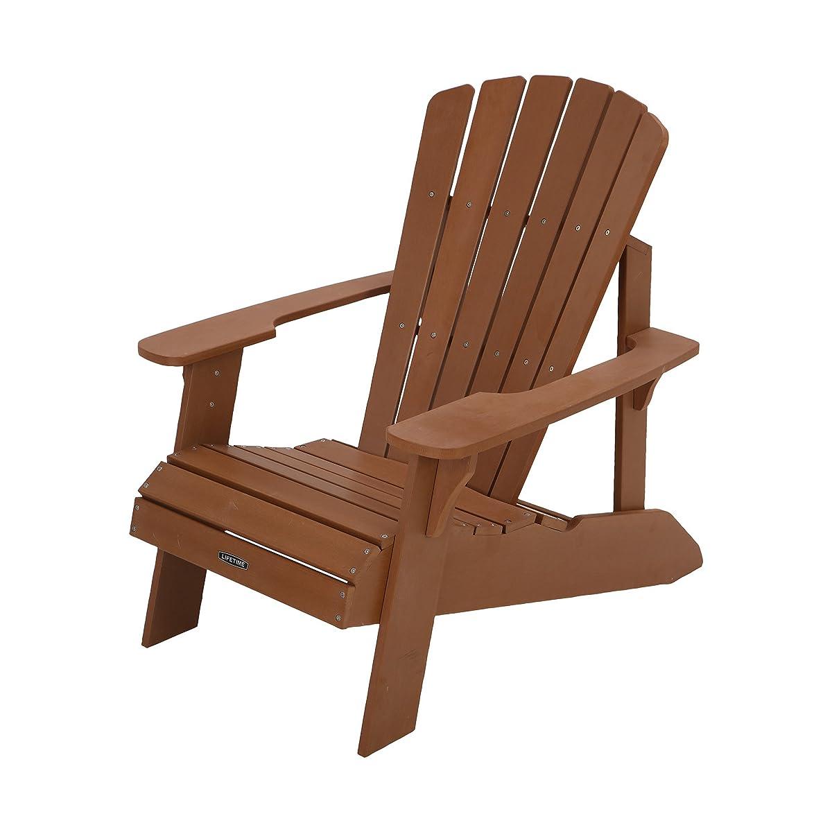 Lifetime Faux Wood Adirondack Chair, Light Brown - 60064