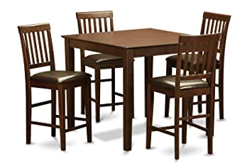 East West Furniture EWVN3-MAH-LC 3-Piece Gathering Table Set