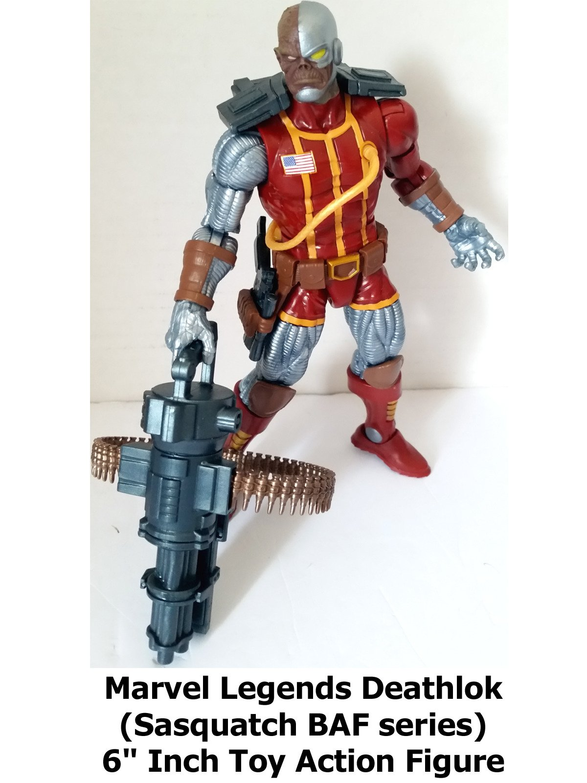 "Review: Marvel Legends Deathlok (Sasquatch BAF series) 6"" Inch Toy Action Figure"