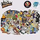 Halloween Sticker,100pcs Skull Spooky Patterns Stickers,Sunscreen Waterproof Decorate Car Motorcycle Bicycle Skateboard Laptop Luggage Bumper Graffiti Decals Stickers (Tamaño: 100PCS)