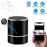 CAMXSW WiFi HD 1080P Music Bluetooth Speaker Camera,Hidden Spy Camera with Motion Detection, Security Video Recorder Real-Time View for Home and Office,