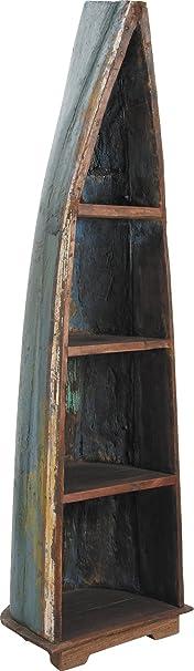 Scaffale in forma di cover di Barca in legno