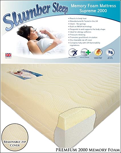 Premium 2000 Memory Foam Hypo-allergenic Mattress 5FT King 150cm