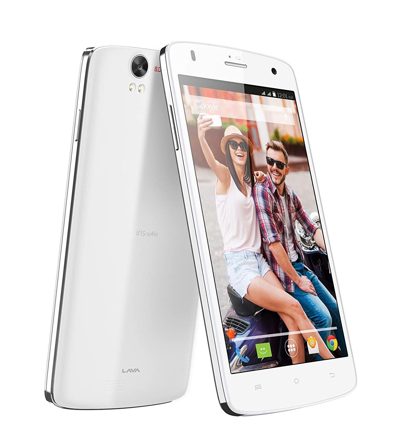Save Upto 50% Off on budget phones By Amazon | Lava Iris Selfie 50 (White) @ Rs.4,368
