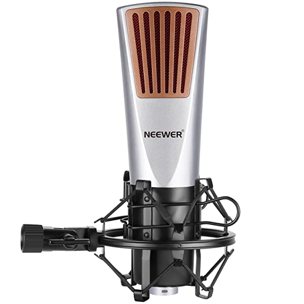 Neewer Cardioid Condenser Microphone(Plastic Mesh) with Spider Shock Mount, Y-Converter Splitter Cable, 3.5MM Male to XLR Female Cable and Foam Cap fo