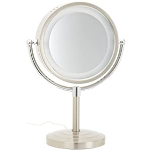 Jerdon HL745NC 8.5-Inch Halo Lighted Vanity Mirror