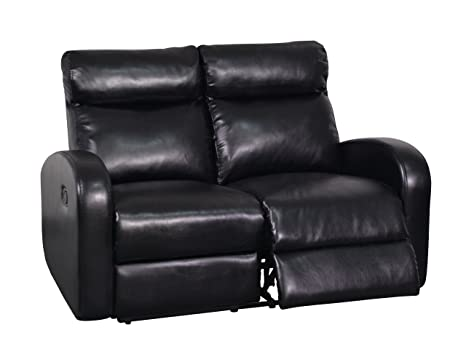 Global Furniture Reclining Loveseat, Black