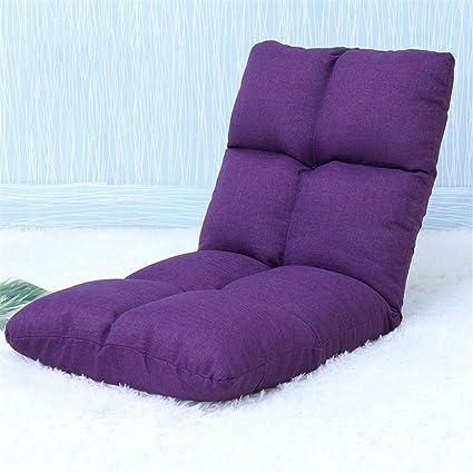 LIYONGDONG® Lazy sofa Tatami Pieghevole Divano singolo divano Divano schienale Divano a pavimento 8 griglia , purple