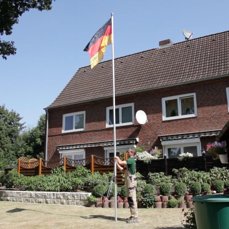 fahne fahnenstange flaggenmast fahnenhalter alu mast deutschland ebay. Black Bedroom Furniture Sets. Home Design Ideas