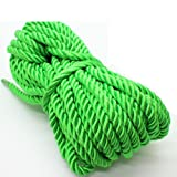 U Pick 10yds 5mm Decorative Twisted Satin Polyester Twine Cord Rope String Thread Shiny Cord Choker Thread (09:Green) (Color: 09:Green, Tamaño: 5mm)