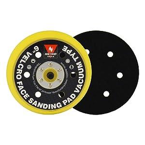 Neiko 30265A Velcro Face Sanding Pad 6-inch Multi-hole Vacuum Type for Dual Action Orbital Air Sander (Tamaño: 6)