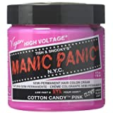 Manic Panic Semi-Permanent Hair Color Cream, Cotton Candy Pink 4 fl oz. (Color: Pink, Tamaño: 4 Ounce)