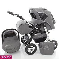 Chilly Kids Jaguar 3 in 1 Pram Combi Stroller