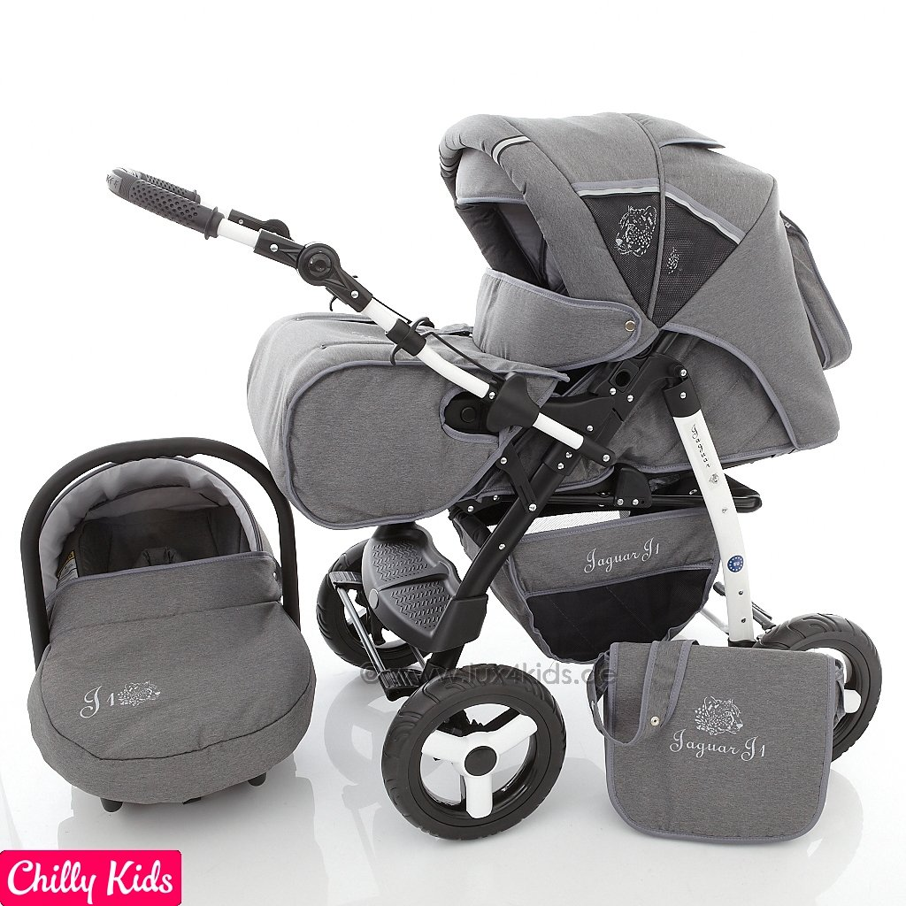 Chilly Kids Jaguar 3 in 1 Pram Combi Stroller