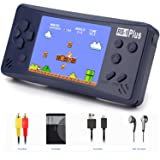 Handheld Game Console for Kids Adults, JJFUN RS-1 PLUS Portable Classic Game Consoles Built in 218 Games 3.5 Inch 1 USB Charge Retro Arcade Video Game Player, Birthday Presents for Children-Royal Blue (Color: Royal Blue)