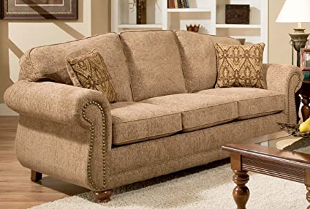 Chelsea Home Furniture Carmella Sofa, Forever Young Camel