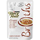 Purina Fancy Feast Broth Wet Cat Food Complement, Broths Classic With Chicken, Vegetables & Whitefish - (16) 1.4 oz. Pouches