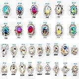 30PCS 3D Luxury Clear Colored Shining Diamond Rhinestone Alloy Nail Art Decorations Charming Fashionable DIY Distinctive Nail Art Work (Color: multi)