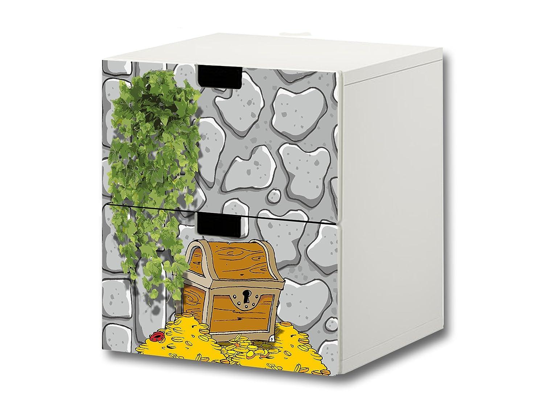 """""""Ritter"""" Möbelsticker / Aufkleber – S2K07 – passend für die Kinderzimmer Kommode mit 2 Fächern / Schubladen STUVA von IKEA – Bestehend aus 2 passgenauen Möbelfolien (Möbel nicht inklusive) jetzt bestellen"""