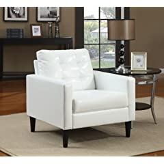 Acme 59048 Balin Accent Chair White Polyurethane Finish