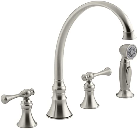 KOHLER K-16109-4A-BN Revival Kitchen Sink Faucet, Vibrant Brushed Nickel