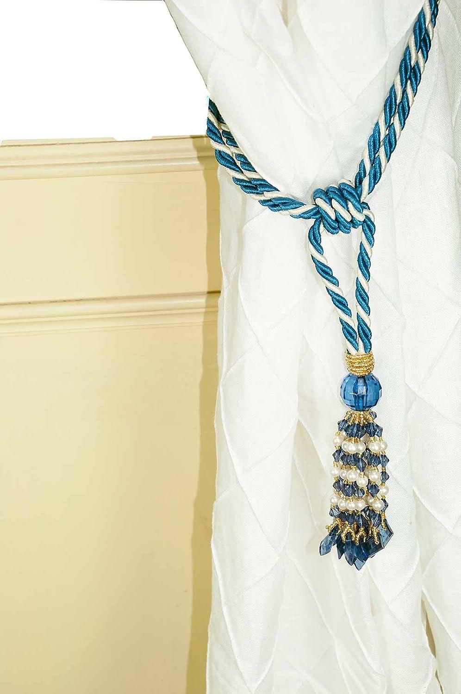 Beaded tassel faux silk Curtain Tie Backs