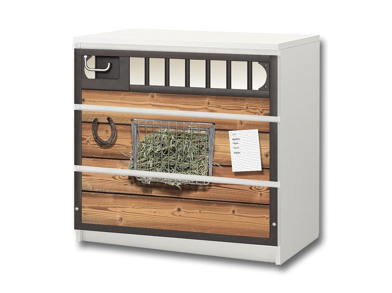 """""""Pferdewelt"""" Möbelsticker / Aufkleber – M3K23 – passend für die Kommode mit 3 Fächern / Schubladen MALM von IKEA – Bestehend aus 3 passgenauen Kinderzimmer Möbelfolien (Möbel nicht inklusive) günstig online kaufen"""