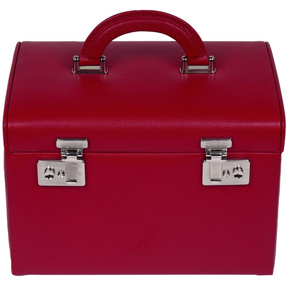 Windrose Beluga Schmuckkoffer mit Uhrenhalterung 1 rot kaufen
