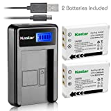 Kastar Battery (X2) & LCD Slim USB Charger for Fujifilm FNP95, NP95, NP-95 and Finepix F30, F31FD, Real 3D W1, X30, X100, X100T, X100LE, X100S, X-S1 and Ricoh DB-90, GXR, GXR Mount A12, GXR P10 (Tamaño: 1 LCD charger + 2 batteries)
