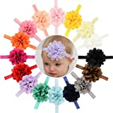 16pcs Baby Girls Headbands Flowers Soft Hairbands for Baby Girls Infants Toddlers (Color: Flowers Headbands, Tamaño: One Size)