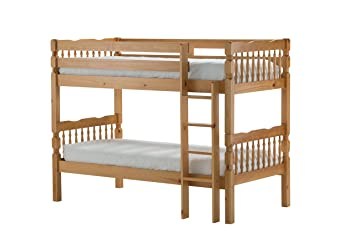 Birlea Weston Bunk Bed - Solid Pine, Oak, Single