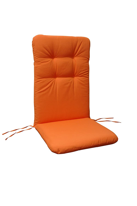 indoba® IND-70404-AUHL-6 - Serie Relax - Gartenstuhl Auflagen - Hochlehner, Orange - 6 Stück