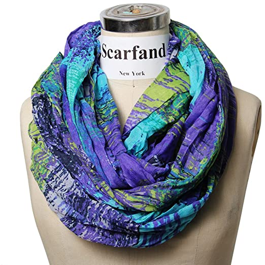 Scarfand's Mixed Color Infinity Scarf