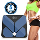 MiiKoo Bathroom Bluetooth Body Fat Scale with iOS and Android App Smart Wireless Digital Bathroom Scale for Body Weight, Body Fat, Water, Muscle Mass,