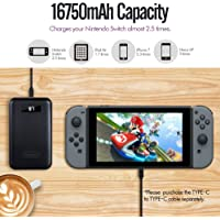 iMuto Portable Charger X5TC 16750mAh 3-Port Output and Type-C Port Nintendo Switch Power Bank External Battery