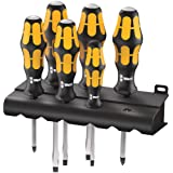 Wera 932/6 Kraftform Plus Screwdriver Set and Rack, 6-Pieces (Color: MULTI)