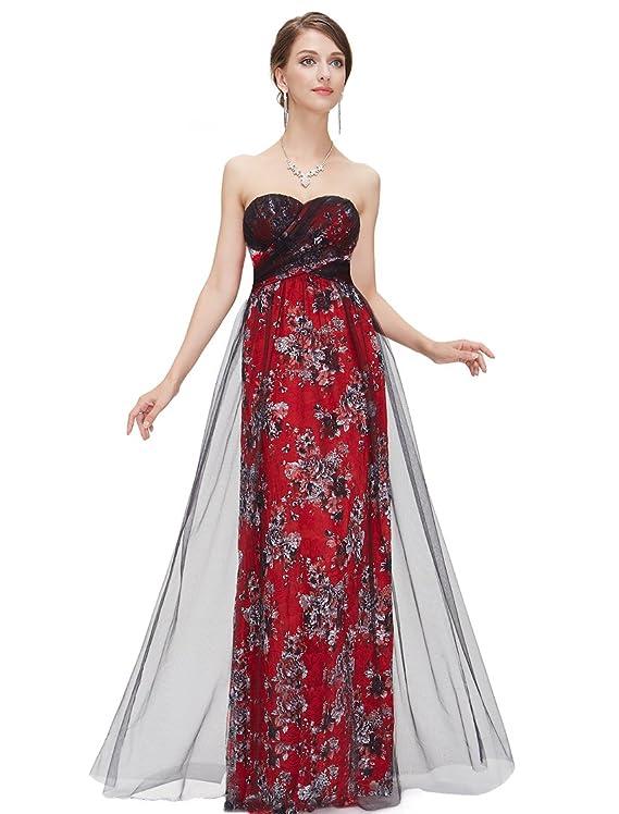 Ever Pretty Sexy Strapless Black Lace Prom Dress 08422
