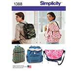 Simplicity 1388 Messenger Bag and Backpack Sewing Patterns, One Size Only (Tamaño: OS (ONE SIZE))