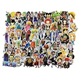 Stickers 135 pcs, Anime One Piece Cartoon Laptop Stickers Funny Vinyl Decals for Snowboard Skateboard Car Kids Water Bottles Motorcycle - No- Duplicate Aesthetic Waterproof Sticker Pack (Color: A)