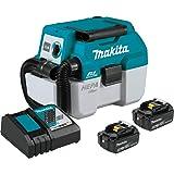 Makita XCV11T 18V LXT Lithium-Ion Brushless Cordless 2 Gallon HEPA Filter Portable Wet/Dry Dust Extractor/Vacuum Kit (5.0Ah)