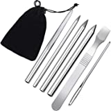 6 Pieces Paracord Stitching Set Paracord FID Lacing Stitching Needles Paracord Smoothing Tool, 6 Sizes and Silvery