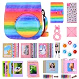 Bsuuy 14 in 1 Instax Mini 9 Camera Accessories Set for Fujifilm Instax Mini 9/ Mini 8/ Mini 8+ Camera, Includes Mini 9 Case,Albums,Six Color Filters,Rainbow Shoulder Strap ETC (Rainbow) (Color: Rainbow)