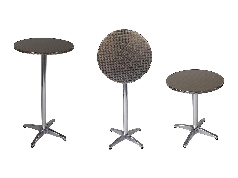 Funktions - Stehtisch MARCEL 60cm rund, Aluminium, Tischplatte Edelstahl 60cm...