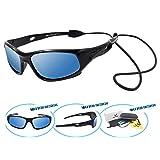 VATTER TR90 Unbreakable Polarized Sport Sunglasses For Kids Boys Girls Youth 816blackbluelense