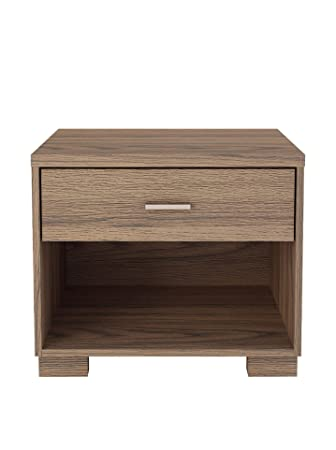 Manhattan Comfort Astor Nightstand, Chocolate