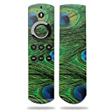 MightySkins Skin for Amazon Fire TV Remote - Peacock Feathers | Protective, Durable, and Unique Vinyl Decal wrap Cover | Easy to Apply, Remove, and Change Styles | Made in The USA (Color: Peacock Feathers, Tamaño: Amazon Fire TV Remote)