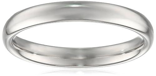 Women's Platinum Comfort-Fit Plain Wedding Band (3 mm)