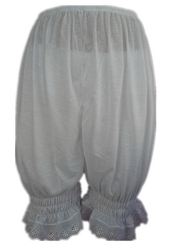 Frauen Handgefertigt Halb Slips UL3CWH WHITE Half Slips Cotton Women Pettipants Lace