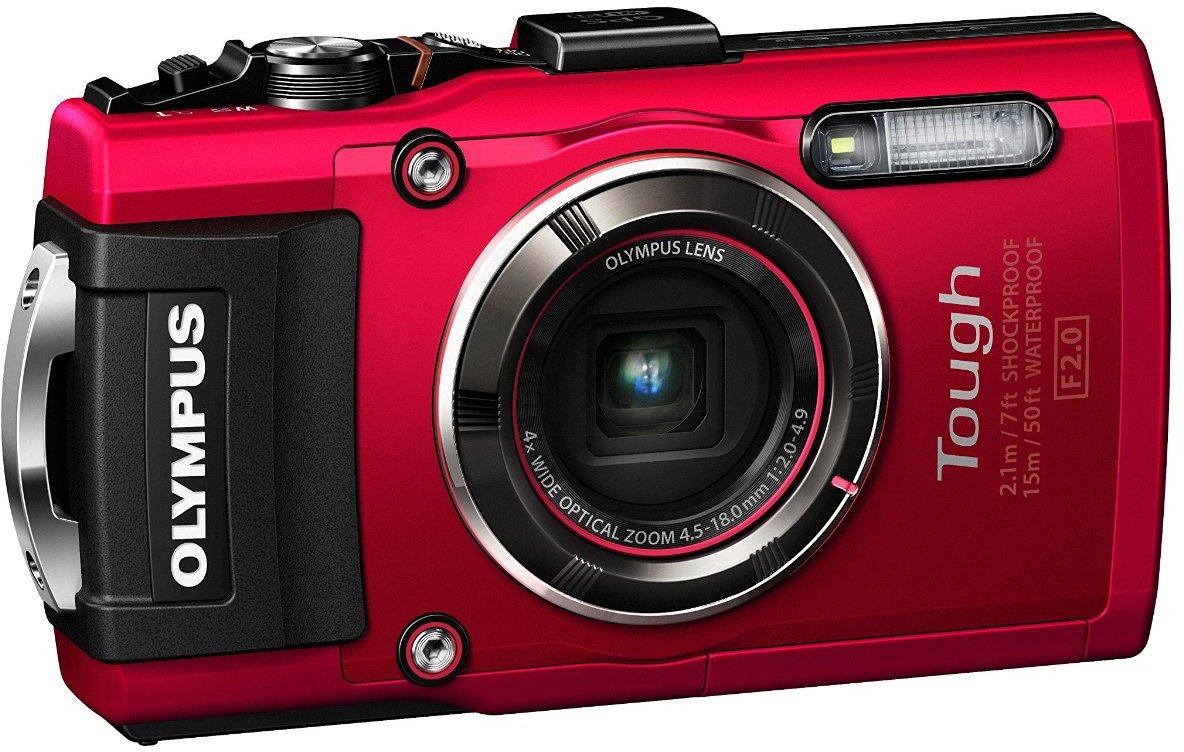 Digital Cameras OLYMPUS STYLUS TOUGH TG4 RED 16MPIXELS