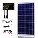 SUNER POWER 30 Watts 12V Off Grid Solar Panel Kit - Waterproof 30W Solar Panel + Photocell 10A Solar Charge Controller with Work Time Setting + SAE Connection Cable Kits (Tamaño: 30W Solar Kit)